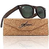 glozzi Gafas de sol de madera de bambú para hombres y mujeres polarizadas UV 400 Categoría 3 con...