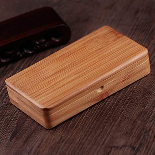 SSLW Zigarettenetui Kleine Handgemachte Magnet Flip Bambus Holz Tabak Box Werbegeschenk Kann 20 Feine Zigaretten Halten,Color1,11.5X6.6X2.2CM