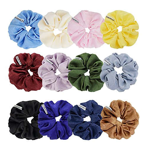 Chloven 12点セット ベルベット シュシュ ヘアーバンド 髪飾り レディース ヘアアクセサリー