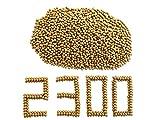 GM&BW 2300 Piezas Tirachinas Bolas Arcillas Barro en 9,5mm Color Marron