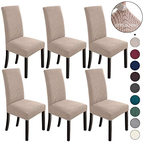 Mejor GoodtoU Chair Covers for Dining Room Chair Covers Dining Chair Covers (Set of 4, Khaki) crítica 2020
