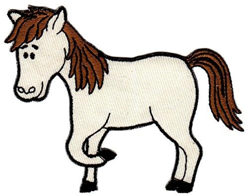 Pony Aufnäher Bügelbild Aufbügler Iron on Patches Applikation Pferd reiten