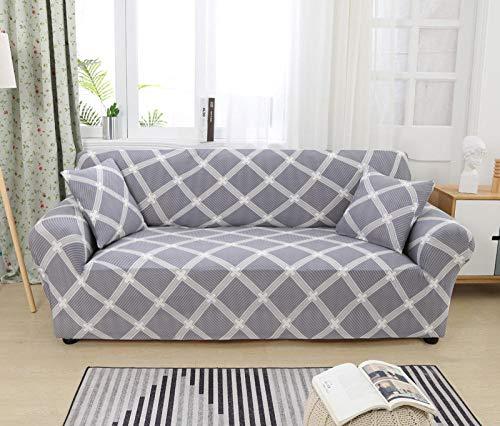 Funda Sofa 1 Plaza Enrejado Fundas Sofá,Universal Funda Cubre Sofas Ajustables, Antideslizante Protector Cubierta de Muebles(90-140cm)
