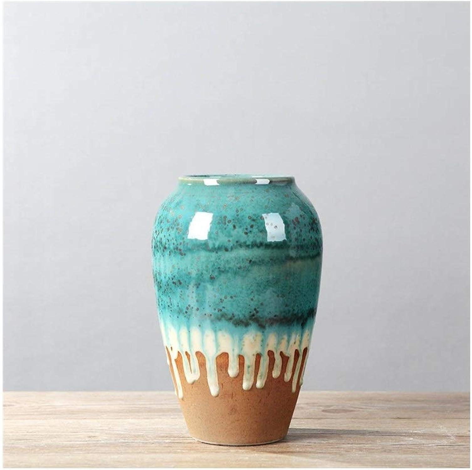 MSH Vase en céramique Nordique Simple Moderne créative décoration de la Maison Vase Meuble TV Armoire à vin insérer Vase (Edition   B)