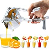 Citrus Juicer Hand Press, Manual Fruit Juicer Orange Juice Squeezer Lemon Lime Squeezer Handheld, Heavy Duty Aluminum Metal, High Juice Yield for Pomegranate Watermelon Grapefruit,with Filter Bag