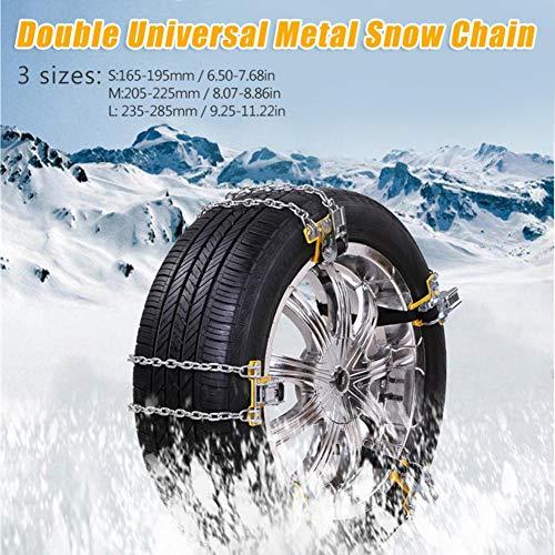 Hete-supply Kabel Schnee Reifen Kette, Schneefräse und Garten Traktor, Anti Slip Schneereifen Ketten für Auto LKW SUV Anti-Skid Notfall Winter Driving (1PC)