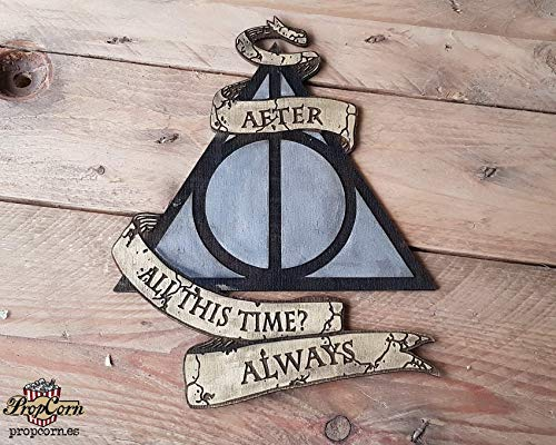 Harry Potter, Snape. After all this time, Always. Holzschild.