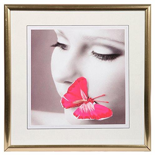New Lifestyle Kunststoff Bilderrahmen quadratisch 20x20 30x30 40x40 50x50: Farbe: Gold | Format: 40x40