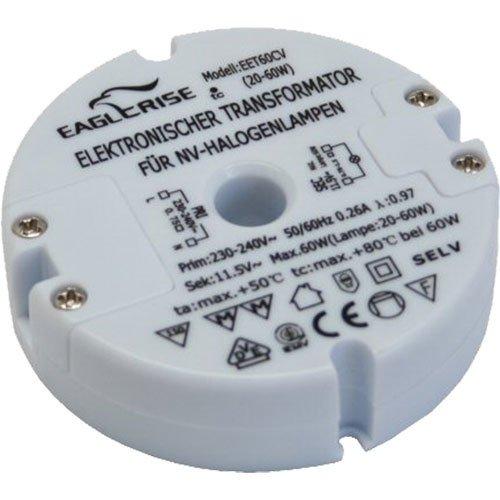 3 Stück Transformator Elektronischer Halogen Trafo runde Bauform ( Durchmesser 73 mm), 230 V auf 12 V, 20-60 Watt