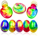 Anditoy 5 Pack Colorful Big Slime Eggs Silly Putty Galaxy Slime Toys Easter Eggs for Kids Girls Boys Easter Basket Stuffers Fillers Gifts