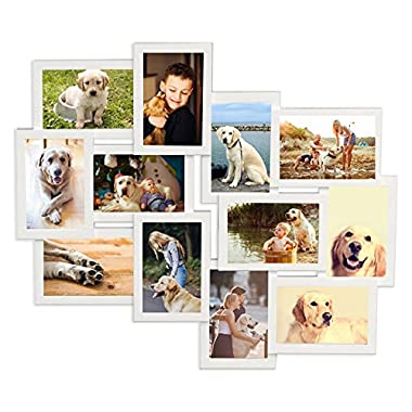 Wall picture frames collage 12 precious moments modern photo decorative black to hang on the wall photos of 3.5  x 5.5  x4.5  x 6.5 , measures approx 24  x 15.75  photos of multiple opening