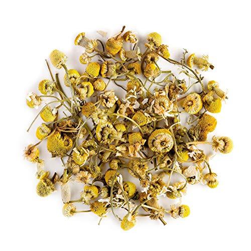 Fiori di camomilla infuso biologico - Calmante e rilassante - Matricaria chamomilla selvatica pura sfusa - Tisana di camomilla comune o tedesca 100g