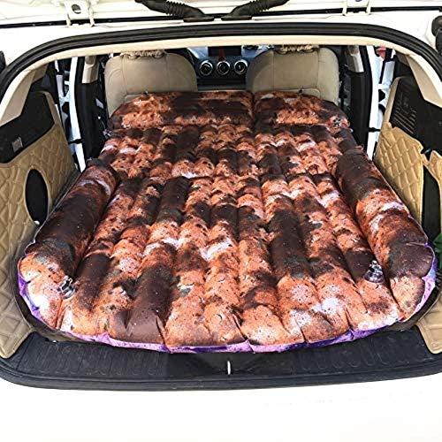 HongLianRiven Reisebett Auto aufblasbares Bett Heck Box Kissen-Auto-Reise aufblasbares Bett verdickte Polyester-Auto mit Kinderauto Schlafen aufblasbare Matratze 5-12 (Color : Yellow)