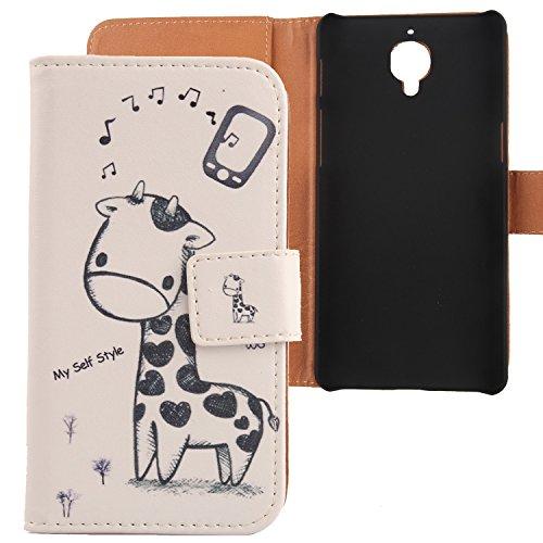 Lankashi PU Flip Leder Tasche Hülle Case Cover Schutz Handy Etui Skin Für OnePlus Three 3 / 3T 5.5