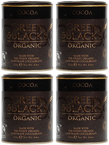 Green & Black's Organic Cocoa Powder - Fairtrade 125grams (Pack of 4)