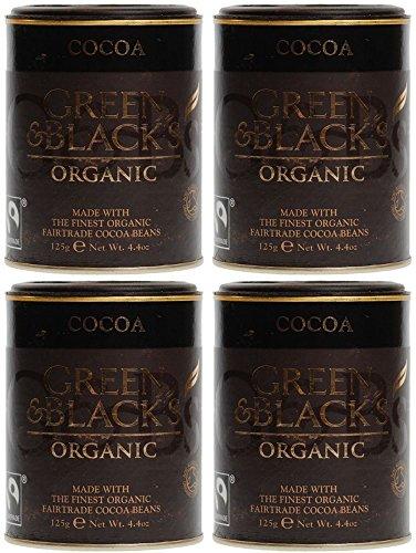 Green & Black's Organic Cocoa Powder - Fairtrade 125grams (Pack of 4)