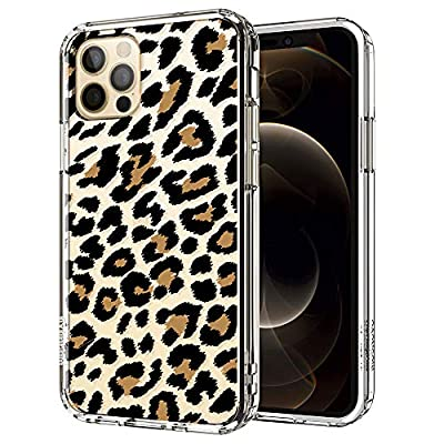 MOSNOVO Leopard Print Pattern Designed for iPhone 12 Case 6.1 Inch/Designed for iPhone 12 Pro Case 6.1 Inch - Clear