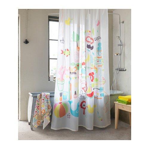 Badbäck Ikea Duschvorhang, mehrfarbig