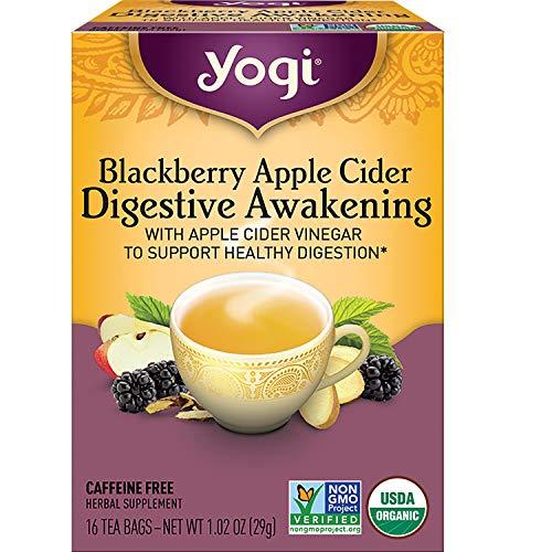 Yogi Tea - Blackberry Apple Cider Digestive Awakening (4 Pack) - Supports Healthy Digestion - 64 Tea Bags
