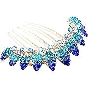 niceEshop(TM) Lovely Vintage Crystal Peacock Hair Clips