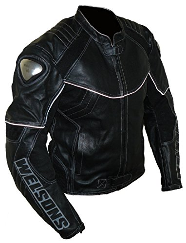 Protectwear WMB-303 Motorrad – Lederjacke,Größe : 60, schwarz - 3