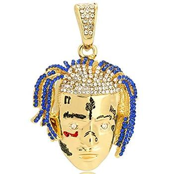 L & L Nation Hip Hop Rapper Exquisite Tentacion R.I.P Pendant Cuban Chain 24  Necklace