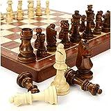 MWKLW Staunton Chess Juego de ajedrez de Madera Juego de ajedrez de 4 Reina de Alto Grado King Altura 80Mm Piezas de ajedrez Juego de ajedrez de Viaje Plegable 39 * 39 Cm