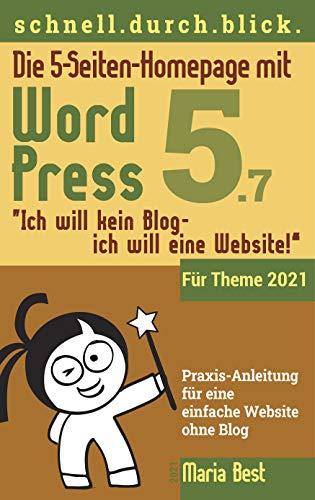 Die 5-Seiten-Homepage mit WordPress 5: