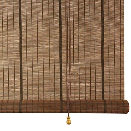 FEIYUGN Outdoor/Exterior Wooden Roller Shade Blinds, Patio Gazebo Pergola Garden Awnings, Interior Study Balcony Partition Sun Shades, Natural Bamboo FEIYU (Size : W100CM X H120CM)