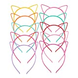 niumanery Children Girls Cute Cartoon Pointed Cat Ears Headband Sweet Candy Color Hollow out Plastic...