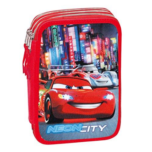 Cars - Plumier Triple, Color Azul y Rojo (Montichelvo Industrial 47507)