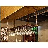 ワインラックワイングラスラックハンギングワインラックリビングルームバーデコレーション取り付けが簡単収納(サイズ:80 * 35cm)