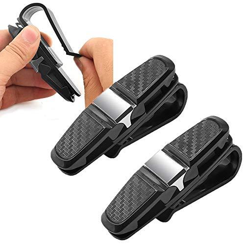 Lnmyic Brillenhalter Auto Brillenaufbewahrung 2 Pack Sonnenbrillenhalterung Auto Doppelenden Brillenhalterung mit Kartenkarten Clip Car Accessories