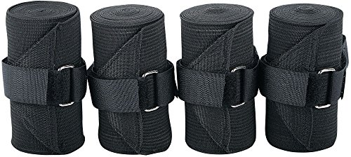 Harry's Horse Bandages elastisch, 4 st, Farbe:schwarz
