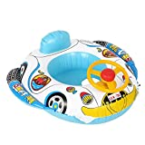Omabeta Swimmer Circle Children Float Boat Water Toys PVC Inflatable Infant Swimming Seat Ring Double Airbags Pool Float Boat Seat Inflatable Swim Rings