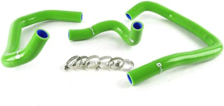 Silicone Radiator Coolant Hose Piping Kit Clamps For KAWASAKI ZX6R NINJA 2005 2006 05 06 Green