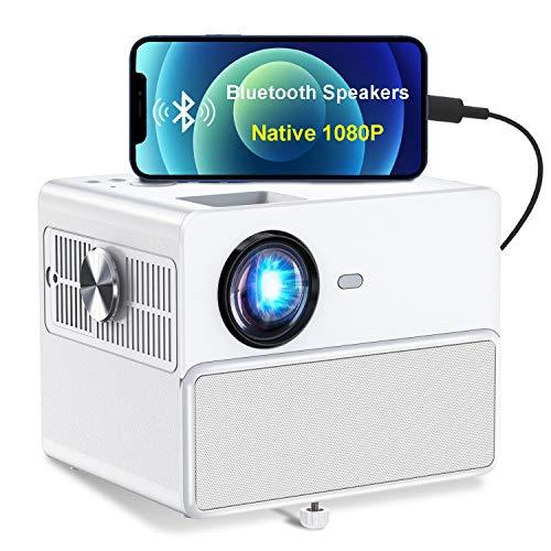 Proiettore all aperto, videoproiettore TOWOND HD 1080P con 7000 lumen, Supporta 4K e correzione orizzontale e verticale ± 15 °, compatibile con USB HDMI SD ps5 TV Box
