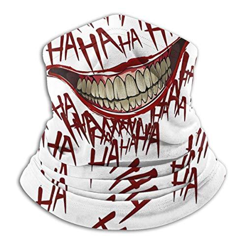Joker Smile Multifunctional Headwear Bandanas Warm Neck Gaiter For Men Women Boys Girls