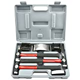 Neiko 20709A Heavy Duty Auto Body Hammer and Dolly Set, 7 Piece | Repair Kit for Dents
