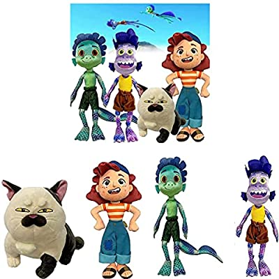 ZURITI Luca Alberto Sea Monster Plush Toy, Purple Girl Stuffed Toy, Baby Cartoon Plush Toys, 17 Inch, Soft Plush Figure Doll Birthday Gift for Children (4pc) by EdfdfWH