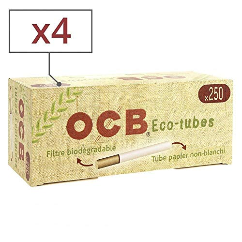 OCB Lot de 4 x 250 Tubes Chanvre Bio avec Filtre
