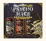 Psycho Juice Extreme Colección 2 - Trío de Salsas Extremadamente Picantes en Caja de Regalo - Extreme, 70% Ghost Pepper, Chipotle Ghost Pepper