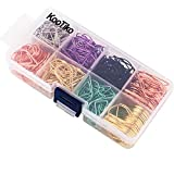 KOOTIKO Multicolor Cute Paper Clips Assorted Sizes Smooth Stainless Steel Drop-Shaped Paperclips Large and Small for Office Supplies Wedding Women Girls Kids Students, Multicolor, 300 Pack