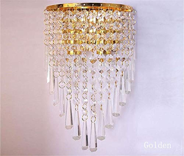 Wandleuchte Moderne Mode-Wandleuchten Kristall-Wandleuchte Bettbeleuchtung Kristalle E14 Arandela Parote Leuchten, Gold