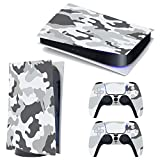 3CTOP High Qulaity Sticker Skin Protector Decals for PS5 Playstation 5 Digital Edition Console and 2 Controllers # 1