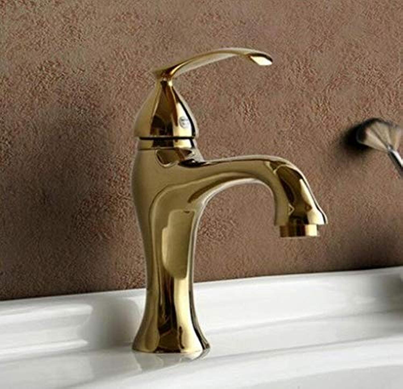 Retro Wasserhahn Mischer Continental Gold Wasserhahn Kupfer Komplett Antiken Bad Becken Wasserhahn Einloch Heies Und Kaltes Wasser