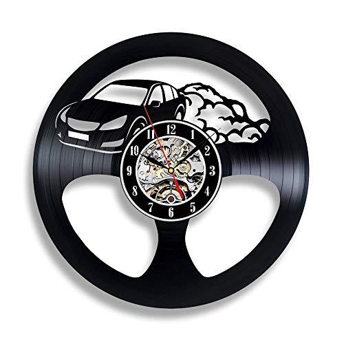 Strnry Wandklok van vinyl cadeau voor autoliefhebbers vintage geluidsplaat wandklok muur decor wooncultuur vinyl klok