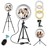 Selfie Ring Light - 12 inch LED Ring Lights with Stand for Makeup YouTube Lighting