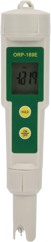 Analizador de Medidor de ORP ORP-169E IP65, Probador Electrónico Positivo Negativo de Agua, -1999-1999mV, Probador de Calidad del Agua, con Gran Pantalla Retroiluminada, para Fuentes de Agua, Acuario,