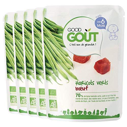 Good Goût - BIO - Haricots verts boeuf dès 6 mois 190 g - Lot de 5